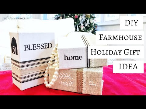 DIY Farmhouse Christmas Gift Idea using Dollar Tree Items