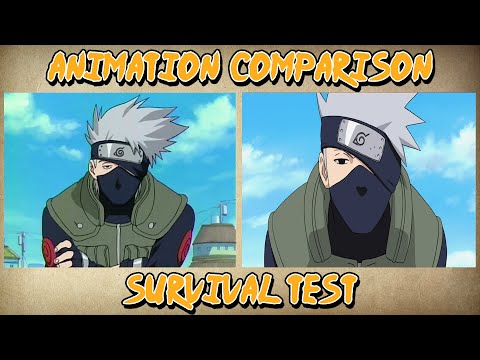 Naruto VS Shippuden - Survival Test | Animation Comparison