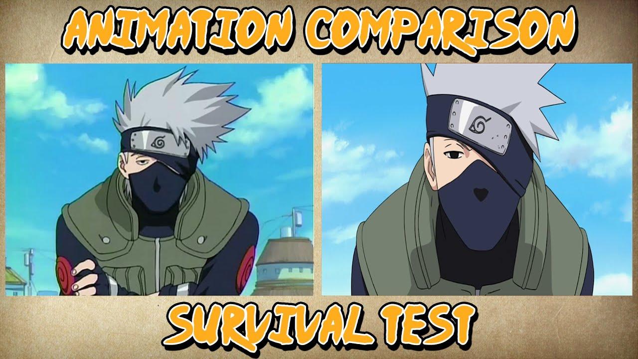 Naruto Vs Shippuden Survival Test Animation Comparison Youtube