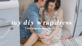 DIY Wrap Dress (for engagement photos!) | WITHWENDY