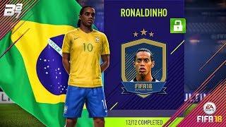 UNLOCKING PRIME 94 RONALDINHO! ICON SQUAD BUILDING CHALLENGES! | FIFA 18