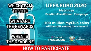 HOW TO VOTE   ALL DETAILS OF 100 MILLION MYCLUB COINS CAMPAIGN   PES 2020 MOBILE