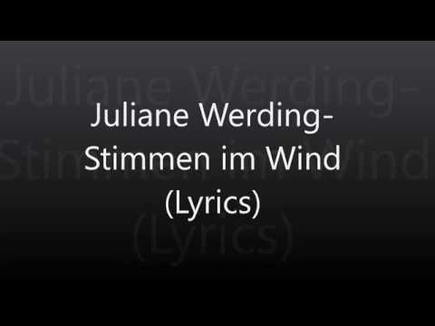 Juliane Werding-Stimmen im Wind (Lyrics)