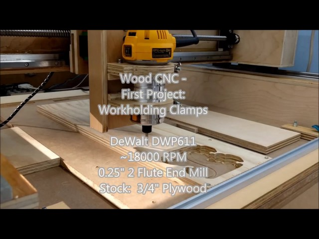 DIY Wood CNC - Making Workholding Clamps