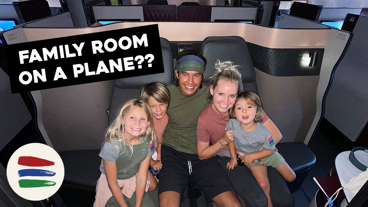 A FULL FAMILY SUITE ON AN AIRPLANE?? QATAR AIRWAYS BUSINESS CLASS! INCREDIBLE FIRST CLASS REVIEW!