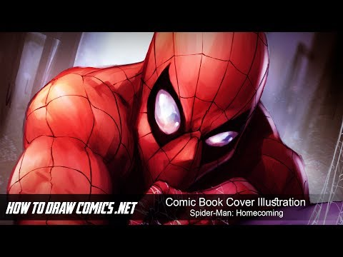 Comic Book Cover Illustration - Spider-Man: Homecoming