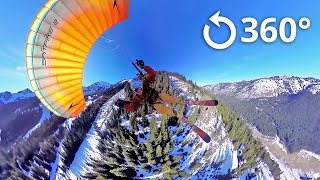 Speed Flying 360 Video Crystal Mountain thumbnail