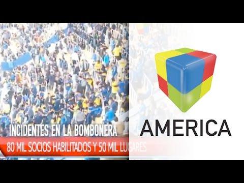 Incidentes y corridas en La bombonera