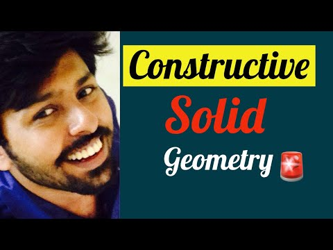 Constructive solid geometry : Computer aided design lectures