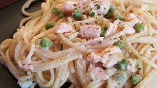 Salmon  Pasta In A Creamy Sauce