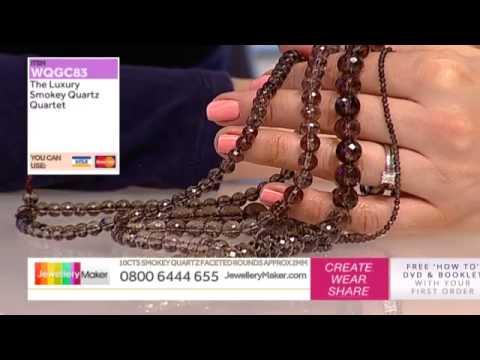 How to Make Beaded and Corded Jewelery: JewelleryMaker LIVE 1/03/2015