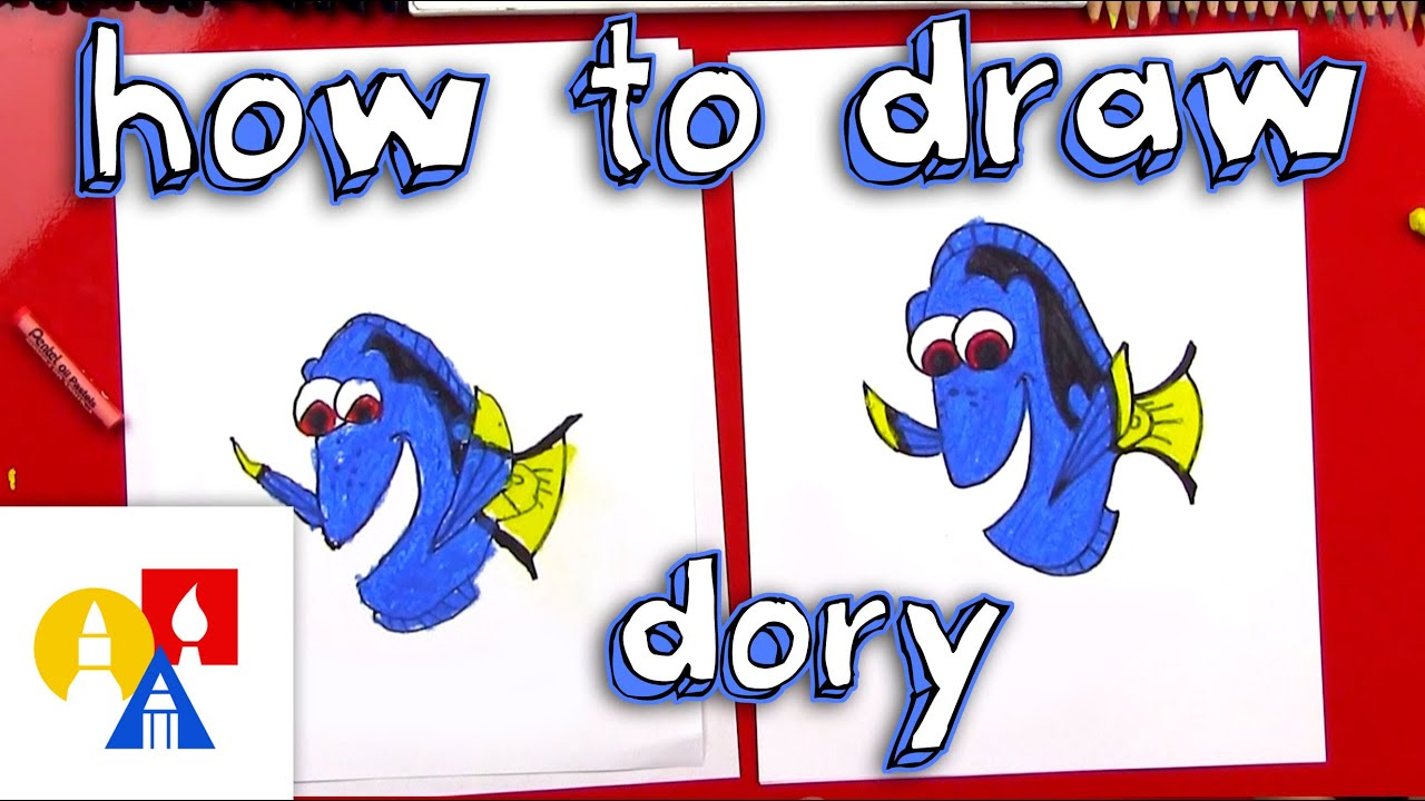 Art For Kids How To Draw Dory Youtube