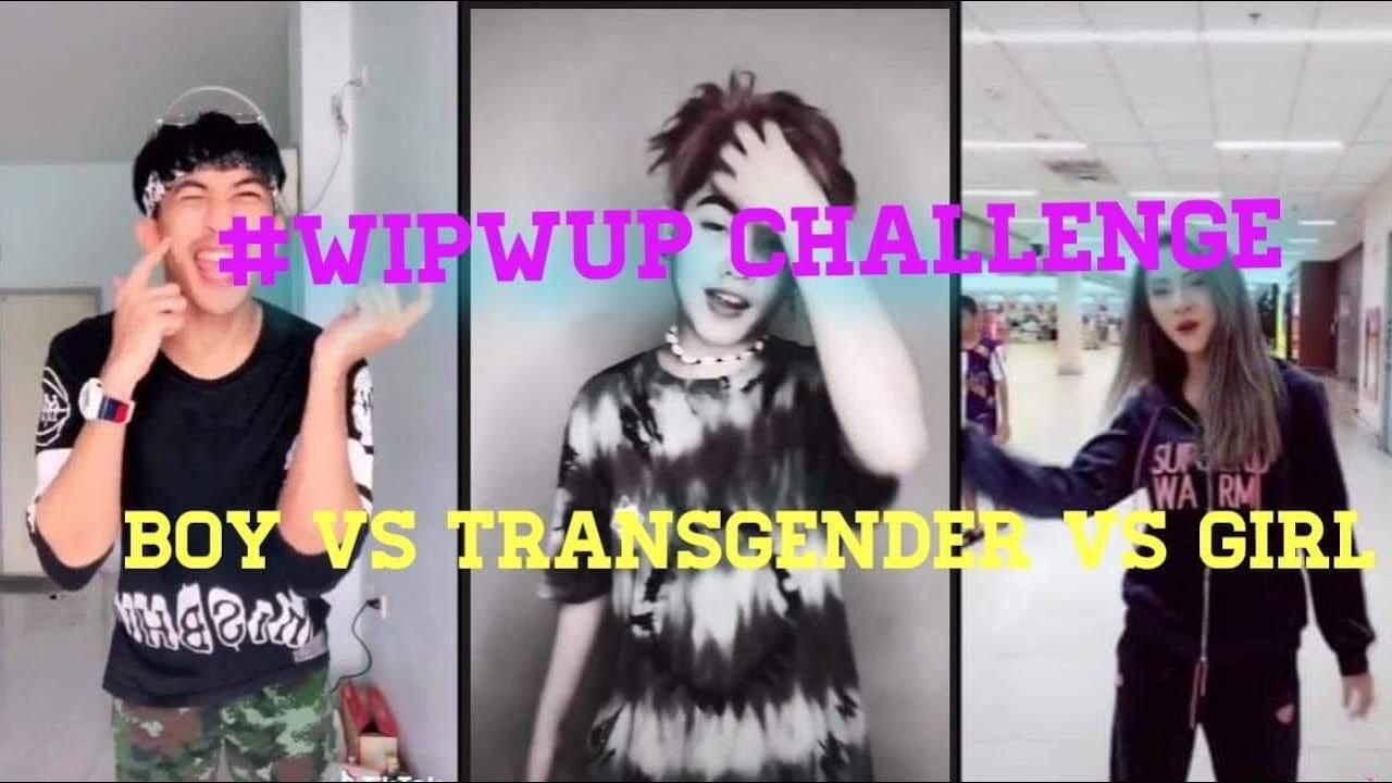 Wipwup challenge Boy vs transgender vs Girl tiktok compilation