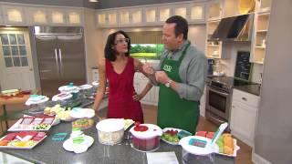 The Chew Turbo Prep Chopper and Slicer with Salad Spinner with David Venable