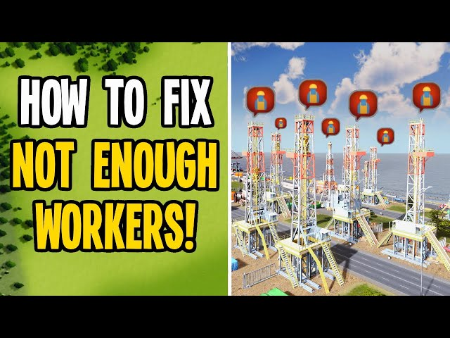 """How to Fix """"Not Enough Workers"""" & Insane Cargo Traffic in Cities Skylines"""