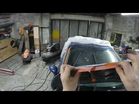 spray painting ford fiesta metallic blue part 3
