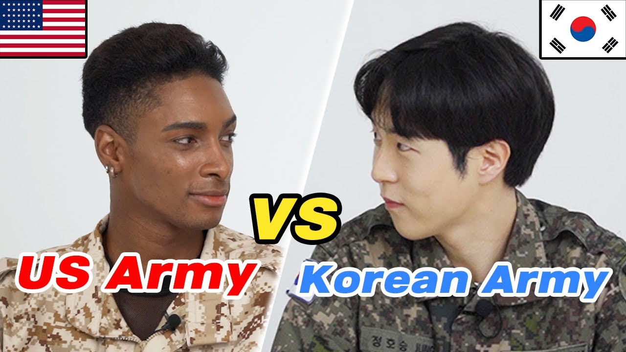Korean Soldier Meets American Soldier FOR THE FIRST TIME!  [Korean VS US Army]