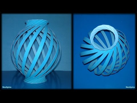 Tutorial 19 - Paper Lamp Ball Twist Spiral