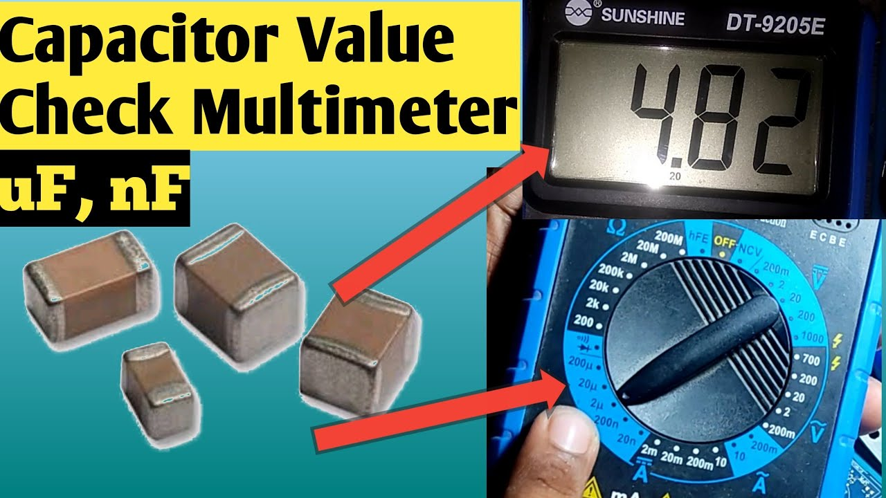How To Check Smd Capacitor With Digital Multimeter   SMD Capacitor Value Check With Multimeter