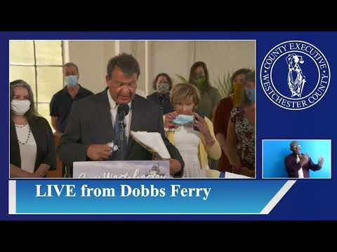 Westchester County Executive George Latimer Gives Covid-19 Briefing from Dobbs Ferry Following PPE Distribution