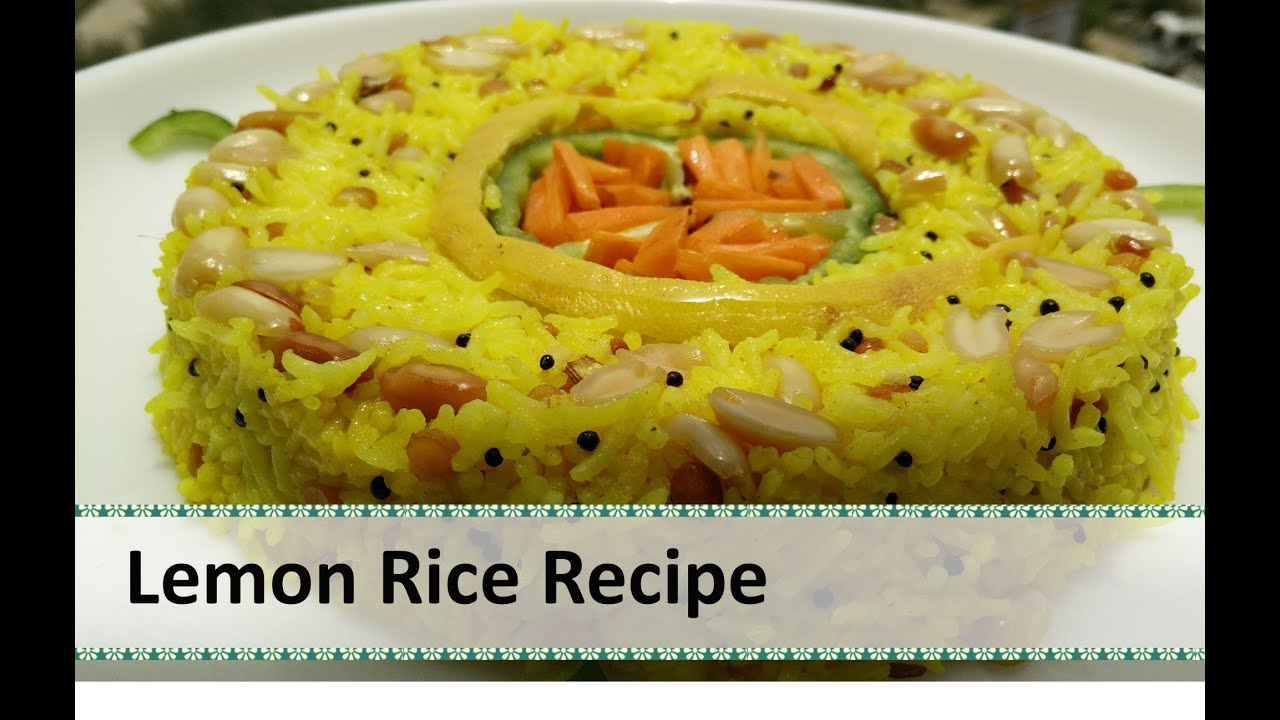 Lemon rice recipe south indian dish rice recipes indian by lemon rice recipe south indian dish rice recipes indian by healthy kadai youtube forumfinder