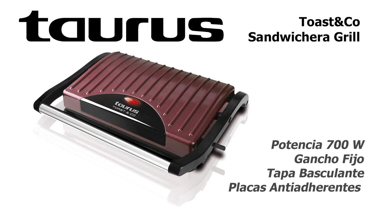 Toast Co Sandwichera Grill 700w Taurus Unboxing Youtube