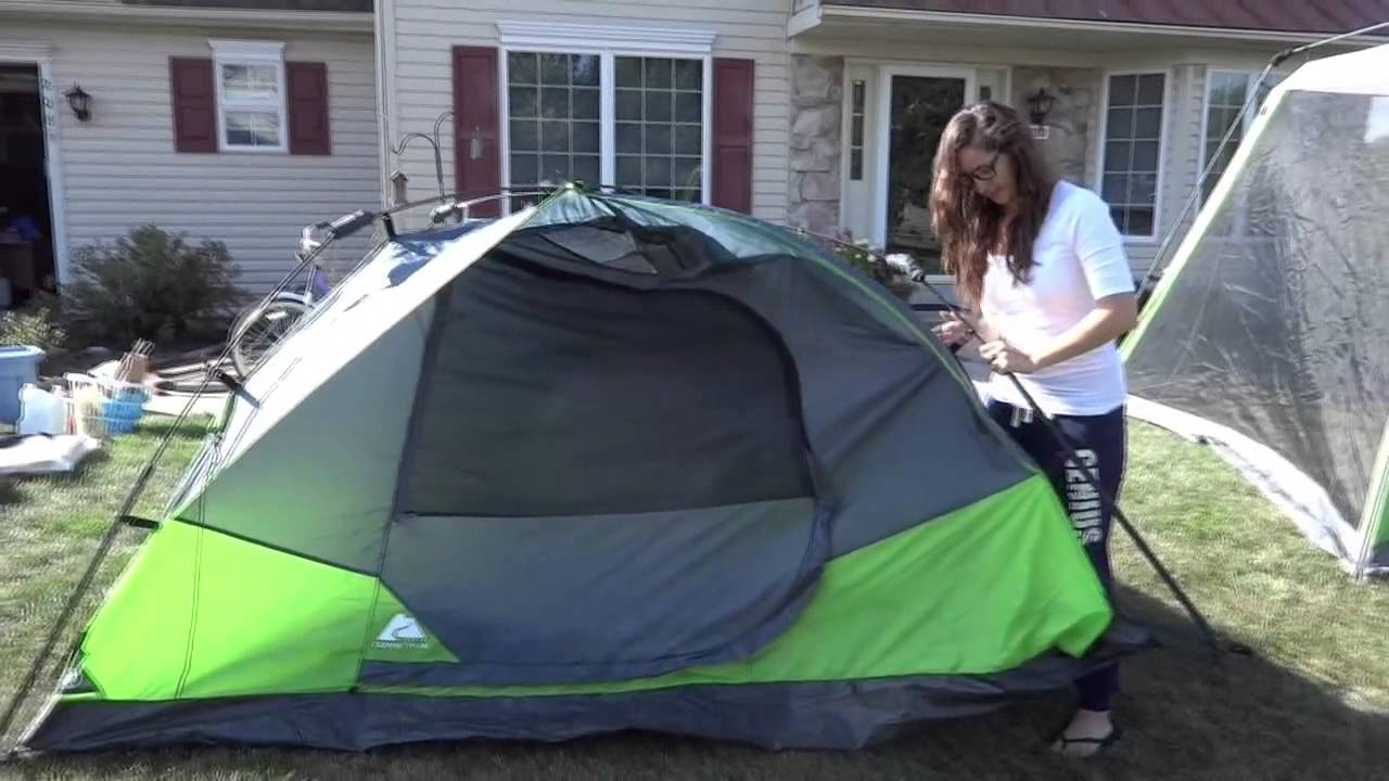 & Review of Ozark Trail 4-Person Instant Dome Tent WMT-9750 - YouTube