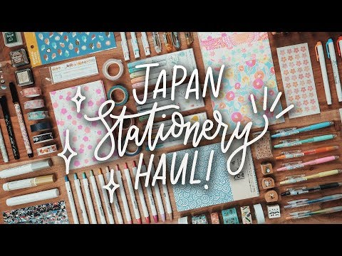 Japan Stationery Haul   What I bought in Japan!