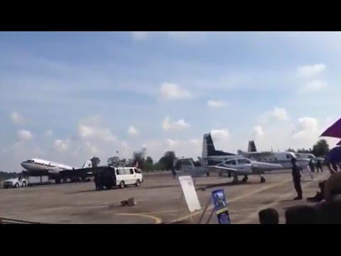 Момент крушения истребителя на авиашоу в Таиланде попал на видео
