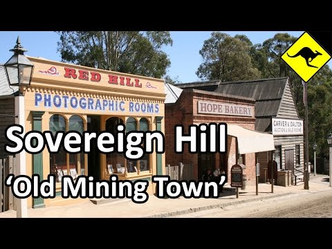 Old Mining Town in Sovereign Hill, Ballarat, Australia
