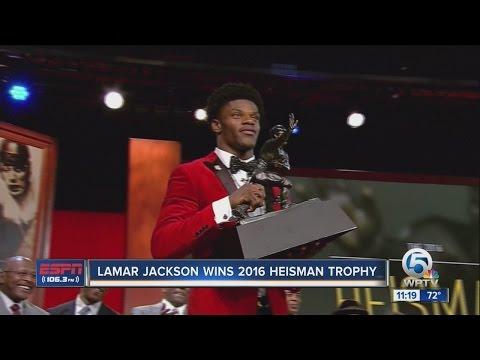Former Boynton Beach star, Louisville QB Lamar Jackson wins Heisman Trophy