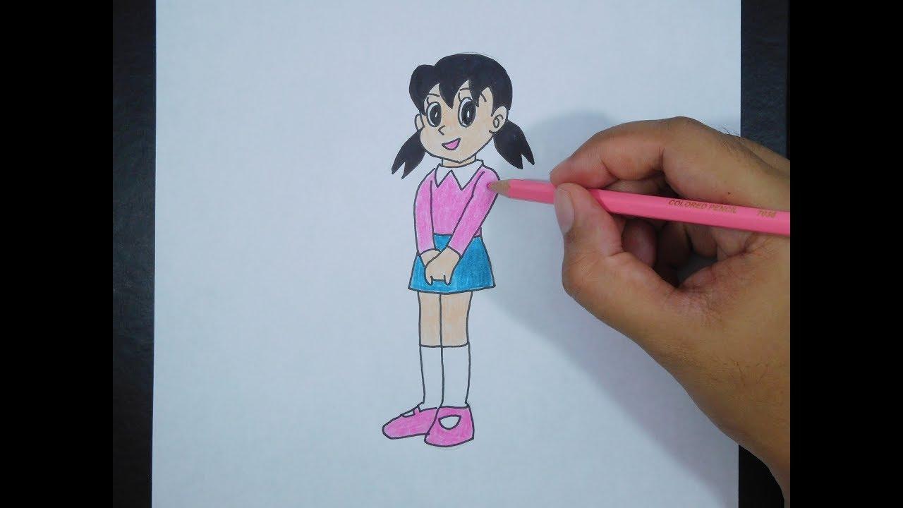 How To Draw Shizuka Doraemon Cara Menggambar Shizuka Doraemon