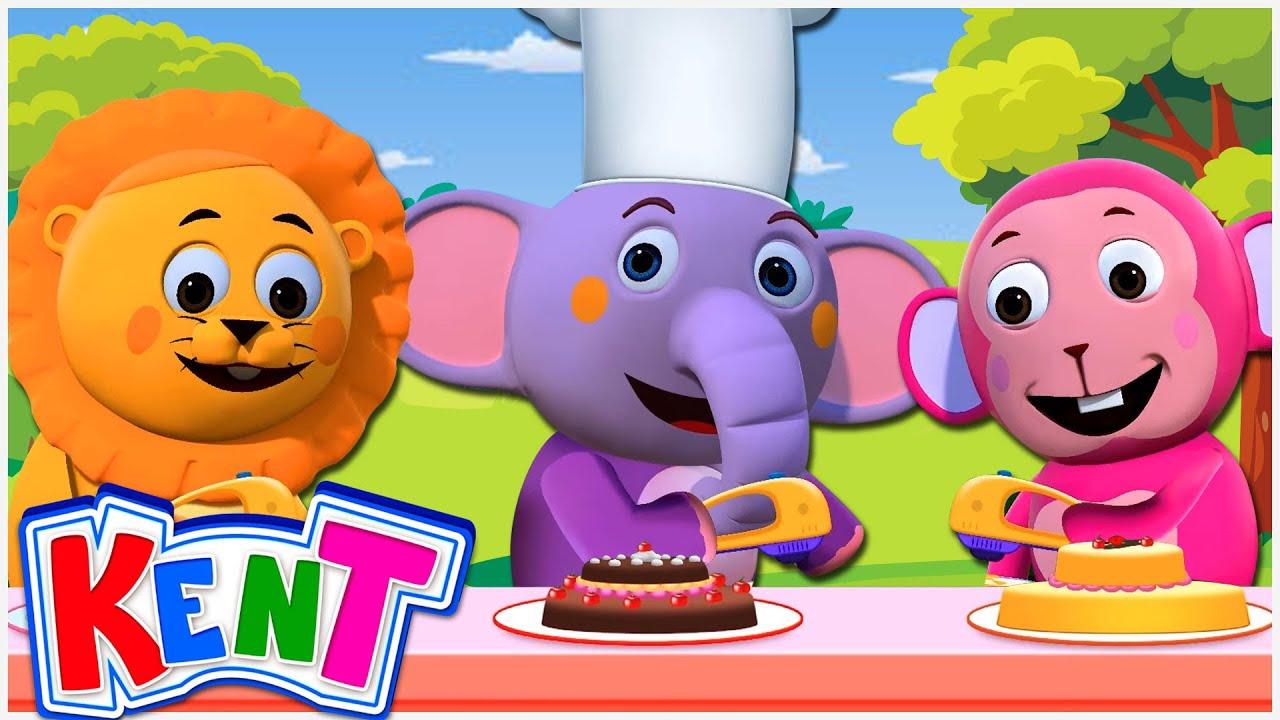 Kent The Elephant | 123 Let's Bake A Cake | Nursery Rhymes