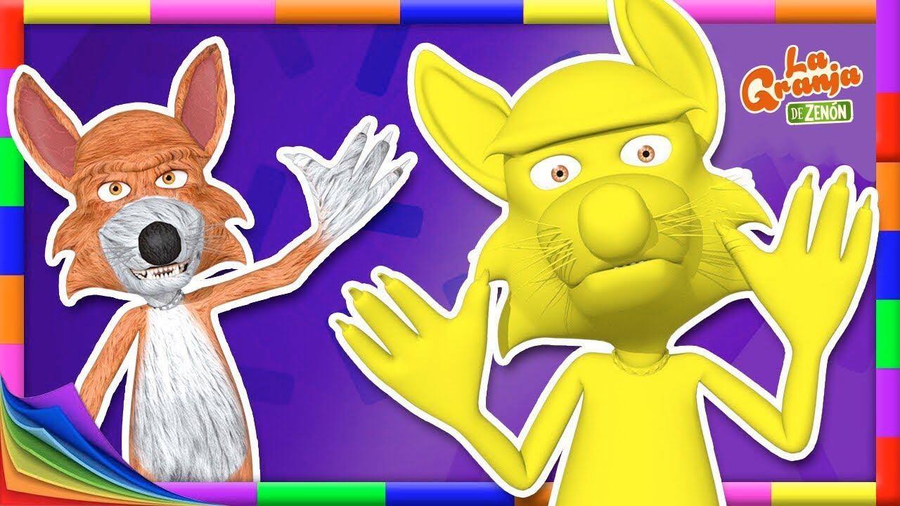 Pinta y Limpia a El Lobo Beto | Aprende los Colores en La Granja de Zenón | La Granja de Zenón