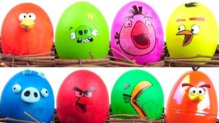 🔴 Cracking ANGRY BIRDS Toys Surprise Eggs for Kids by KalaniWorld