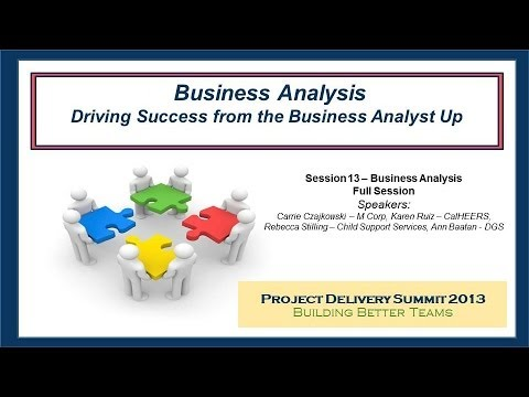 Driving Success from the Business Analyst Up - From the 2013 Project Delivery Summit