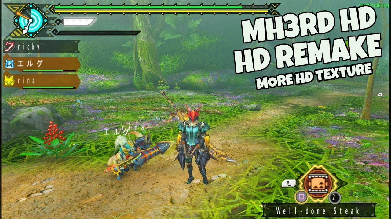 Ultra HD texture Remake Pack - MONSTER HUNTER 3RD HD Remake Android Work In  Progress
