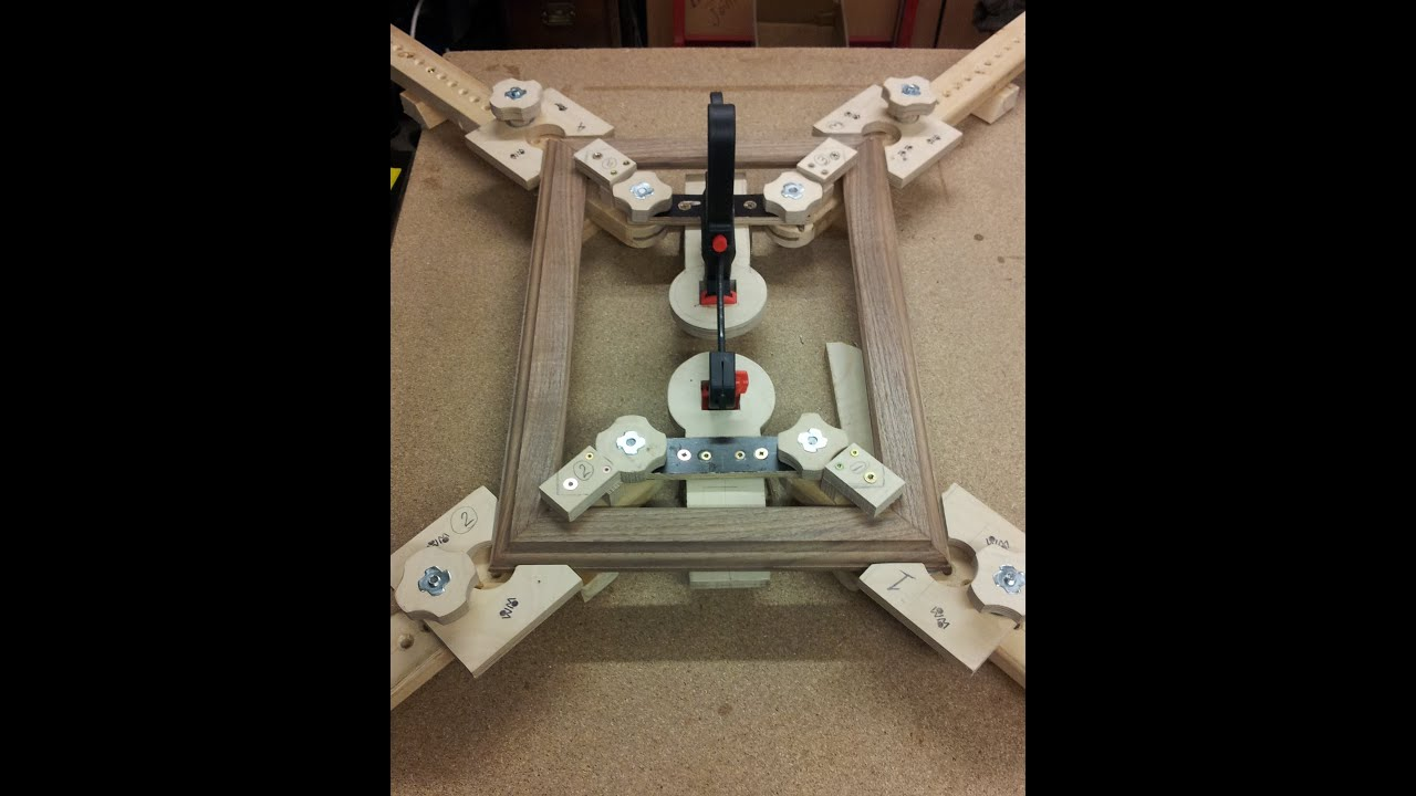 A Few Minutes With WM Woodworking Picture Frame Clamp Jig - YouTube
