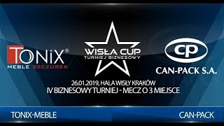 Wisła CUP 2019: Tonix-Meble vs. Can-Pack (mecz o 3 miejsce)
