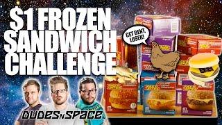 $1 Frozen Sandwich Challenge - Five in 5 - Dollar Tree Reviews - Dudes N Space