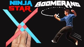 The EPIC Ninja Star Boomerang! (Easy and Amazing)
