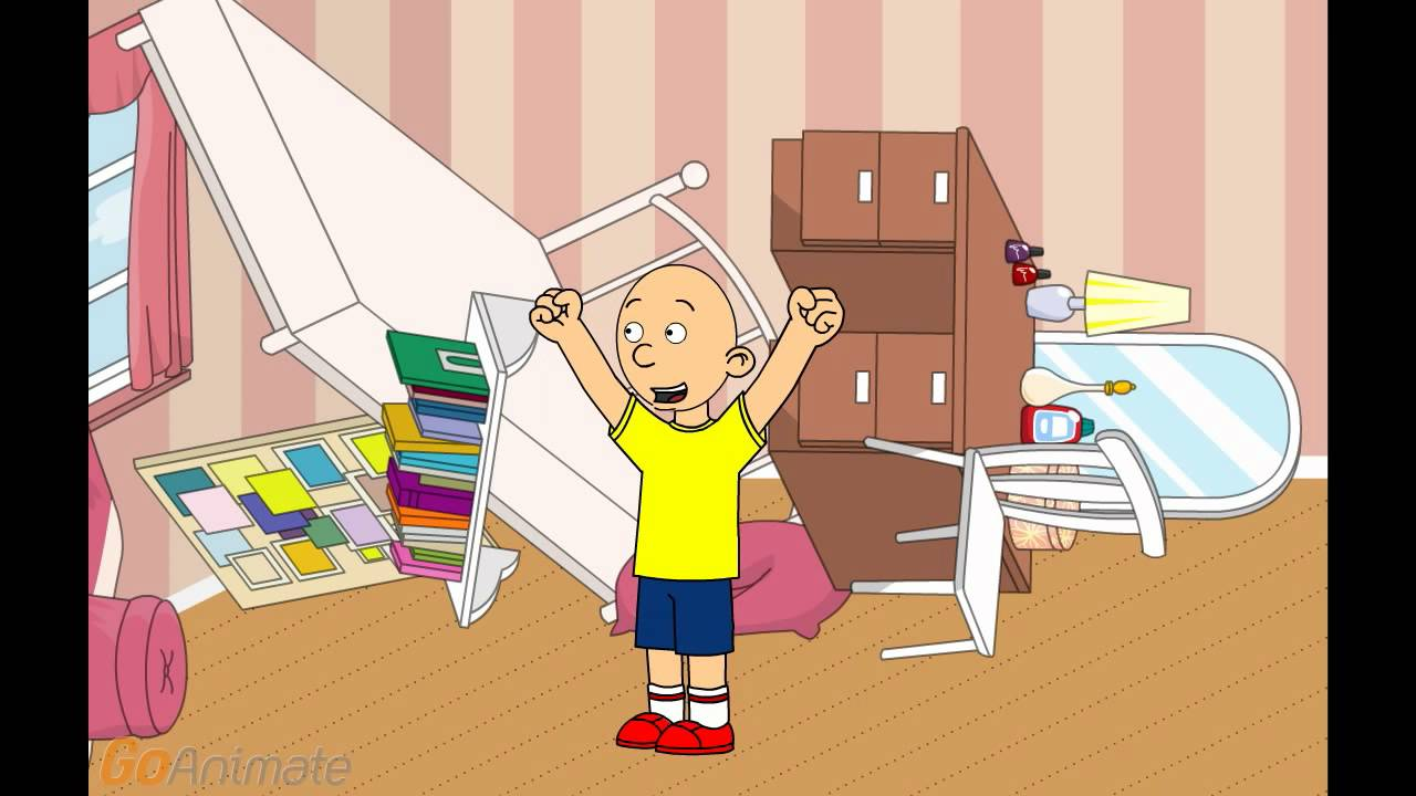 caillou destroys rosie 39 s room grounded youtube. Black Bedroom Furniture Sets. Home Design Ideas