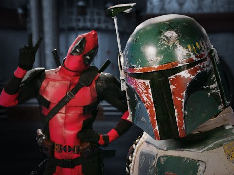 Видео: Deadpool vs Boba Fett.  Epic Rap Battles of History - Bonus Battle