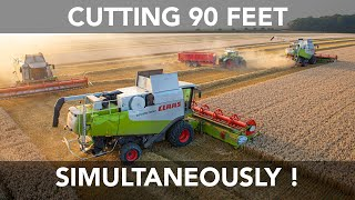 3 Claas Combines Working Together thumbnail