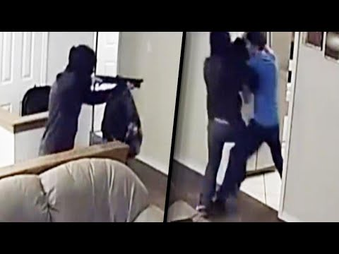 Homeowner Turns The Tables On Intruder