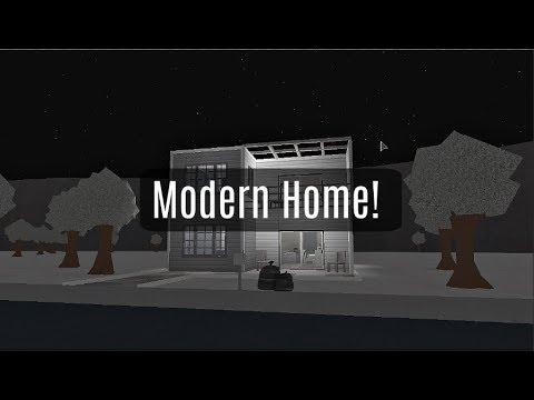 Roblox Bloxburg Modern House 35k Youtube