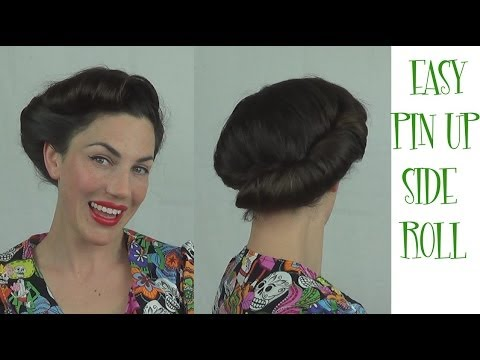 EASY PINUP Hairstyle Side Roll VINTAGE RETRO Updo