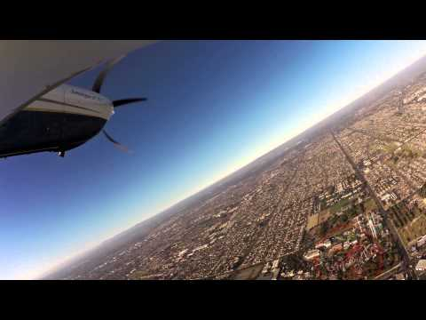 Watch us fly into Fullerton Airport - California