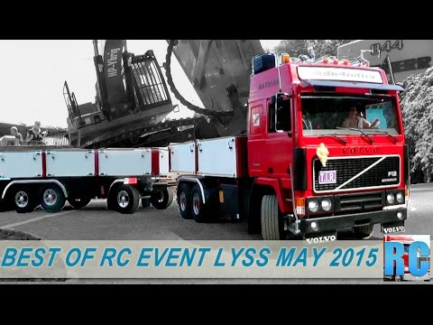 BEST OF RC TRUCKS MEGA EVENT,  LYSS, MAY 2015 IN SWITZERLAND, EXCAVATOR, WHEEL LOADER, TRACTOR