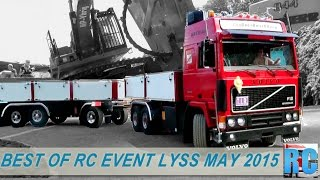 BEST OF RC TRUCKS MEGA EVENT,  LYSS, MAY 2015 IN SWITZERLAND, EXCAVATOR, WHEEL LOADER, TRACTOR